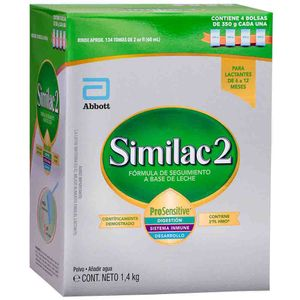 Fórmula Infantil SIMILAC 2 Pro Sensitive Caja 1.4Kg