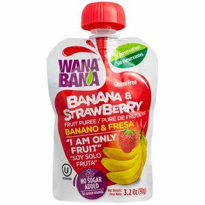 Puré de Banana y Fresa WANA BANA Doypack 90g