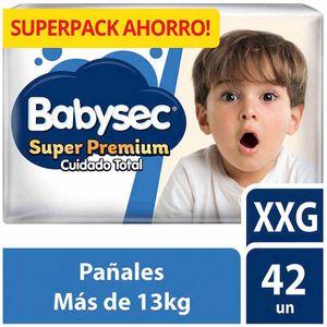 Pañales para Bebé BABY SEC Super Premium Cuidado Total Talla XXG Paquete 42un