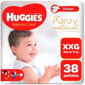 Pañales para Bebé HUGGIES  Puro y Natural Talla XXG Paquete 38un