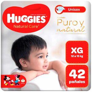Pañales para Bebé HUGGIES Puro y Natural Talla XG Paquete 42un