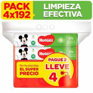 Toallitas Húmedas HUGGIES Limpieza Efectiva Paquete 192un