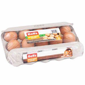 Huevos de Gallina BELL'S Pardos Bandeja 15un