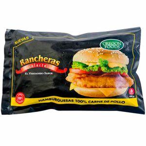 Hamburguesa de Pollo RANCHERAS Bolsa 600g