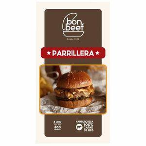 Hamburguesa Parrillera BON BEEF 200g Caja 4un