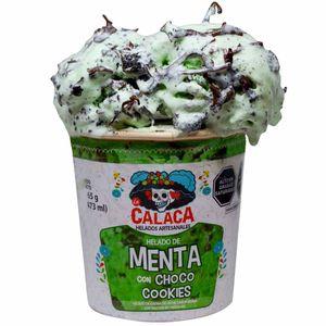 Helado LA CALACA Menta & Chococookies Pote 473ml