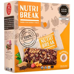 Cereal NUTRI BREAK Orgánico Aguaymanto Barra 25g Caja 6un
