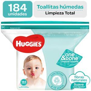 Toallitas Húmedas para Bebé HUGGIES One & Done Paquete 184un